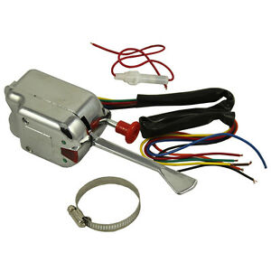 12v Universal Hot Rod Chrome Turn Signal Switch For Buick Ford Gm