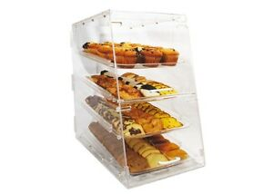 Winco Adc 4 14x24x24 inch Clear Acrylic Countertop Display Case With 4 Trays