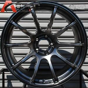 18x9 Rota G Force Wheels 5x114 3 Hyper Black Rims Fits Mazda Speed3 6 Rx8