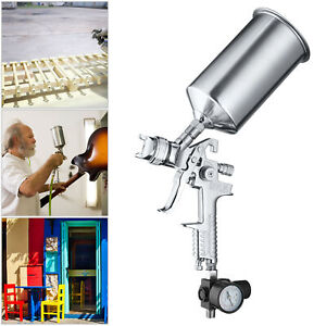 2 5mm Hvlp Gravity Feed Spray Paint Gun Car Auto Basecoat Clearcoat Metal Flakes