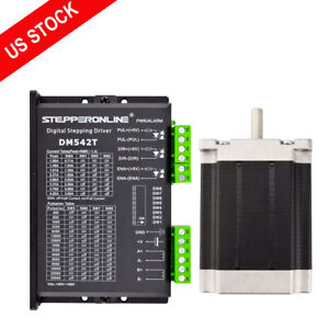 Us Ship 1 Axis Cnc Kit 269oz in Nema 23 Stepper Motor Driver Cnc Mill Router