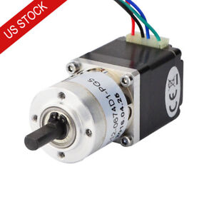 Us Ship Osm 5 1 Planetary Gearbox Dual Shaft Nema 11 Stepper Motor Diy Robot