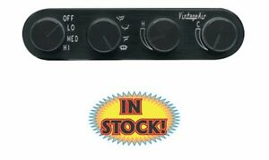 Vintage Air 491229 4 Knob Gen Ii Streamline Control Panels Black