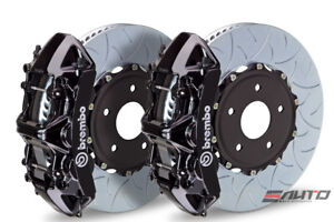 Brembo Front Gt Brake Bbk 6 Piston Black Caliper 350x34 Type3 Disc Audi S3 15