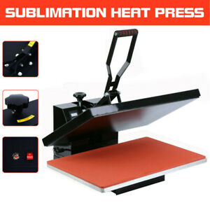 1600w Digital Clamshell Heat Press Transfer T shirt Sublimation Machine 16 x24