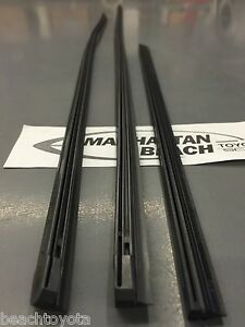 2012 2013 Highlander Hybrid Front And Rear Wiper Inserts New Genuine Toyota