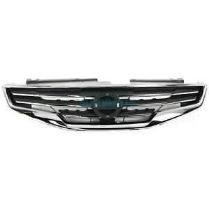New Front Grille Chrome Black Plastic Fits 2010 2012 Nissan Altima Ni1200236