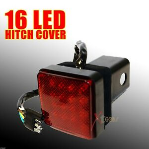 New 2 Receiver 16 Led Brake Light Trailer Hitch Cover Fit Towing