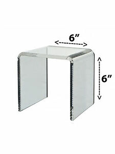 Lot Of 24 Clear Acrylic Cube Counter Top Riser Jewelry Makeup Display Stand 6x6