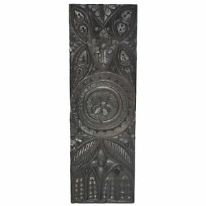 Antique 18th C French Carved Oak Gothic Style Architectural Salvaged Panel