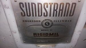 Sunstrand Production Mill 33