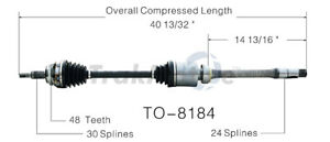 Cv Axle Shaft Front Right Surtrack To 8184 Fits 04 10 Toyota Sienna