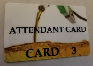 Replacement Attendant Cards Verifone Pack Of 10 Cards Made To Order