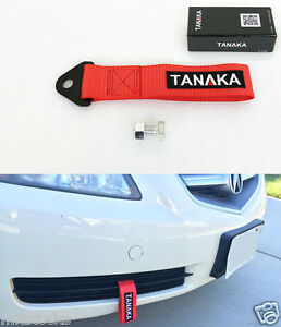 1 Tanaka Universal Red Racing Sports Tow Strap Tow Hook 8000 Lbs