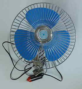 8 Inch 12 Volt Car Van Truck Boat Tilting Oscilating Fan