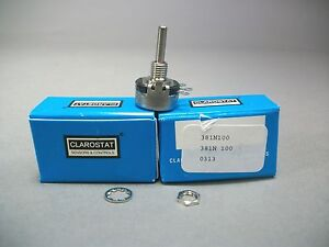 Honeywell S c Clarostat 381n100k Potentiometer 100k Ohm New Lot Of 2 Pcs