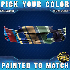 New Painted To Match Front Bumper Cover For Replacement 1998 2002 Chevy Camaro