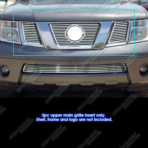 Fits 2005 2007 Nissan Frontier Pathfinder With Logo Cnc Perimeter Grille