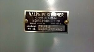 Moore Products 72lp315 Valve Positioner