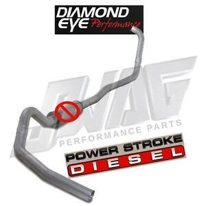 99 03 Ford 7 3 7 3l Powerstroke Diesel Diamond Eye 4 Turbo Back Exhaust System