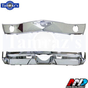 1970 70 Monte Carlo Front Rear Bumper Kit Triple Chrome Plate Amd Stamping