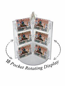 Lot Of 12 Acrylic 18 Pocket Spinning Business Gift Card Holder Rack Display