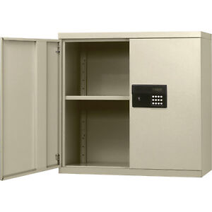 Keyless Electronic Steel Wall Cabinet 30 X 12 X 30h Putty Kdew3012 07