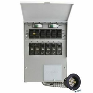Reliance Controls Pro tran 2 30 amp 120 240v 6 circuit Transfer Switch W