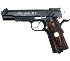 500 FPS NEW FULL METAL WG AIRSOFT M 1911 GAS CO2 HAND GUN PISTOL w 6mm BB BBs $69.95