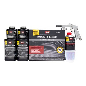 Sem 42250 Black Rock It Spray On Truck Bed Liner Kit Coating With Gun Sem 42250