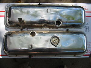 Corvette Chevelle 1970 454 Ls 6 Valve Covers W Tcs Provisional Clips 396 427