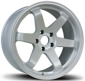 Avid 1 Av 06 17x8 Wheels 5x114 3 35 Matte White Rim Fits Mazda 6 Accord Rsx Tsx