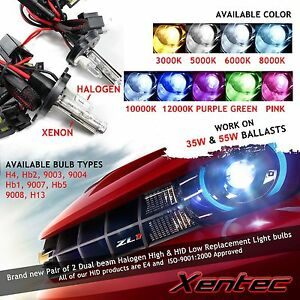 2 Xentec Hid Xenon Light Bulb Replacement For Dual Beam Hi Lo H4 H13 9004 9007