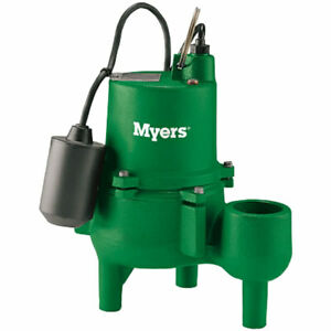 Myers Srm4pc 1 4 10 Hp Cast Iron Sewage Pump 2 W Tether Float Switch