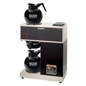 12 cup Pourover Commercial Coffee Brewer With Upper And Lower Warmers Black Bunn