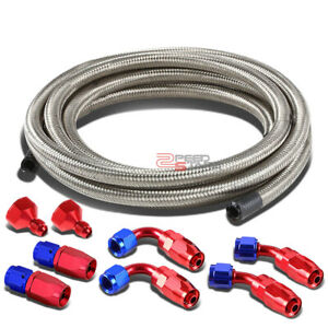 An6 An10 Hose End Male Female Fitting Adaptor 12 Steel Braided Oil Fuel Line