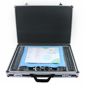 Optical 266 Trial Lens Set Metal Rim Aluminum Optometry Case Free Trial Frame