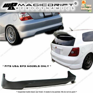 02 03 04 05 Honda Civic Si Hatch Hb Ep3 Type r Ctr Style Rear Lower Bumper Lip