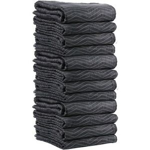 Lot Of 12 Pc Heavy Duty Padded Moving Blankets 72 X 80 Washable