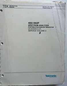 Tektronix 492 492p Service Manual Vol 2 P n 070 3784 01 Rev Dec 1983