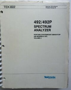 Tektronix 492 492p Service Manual Vol 2 P n 070 3784 01 Rev Sep 1984