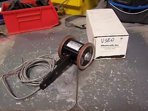 Photocraft Rh 3 24p Wheeled Incremental Shaft Encoder 24 Vdc Series Rh