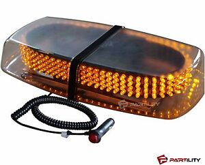 240 Led Amber Light Emergency Warning Strobe Flashing Yellow Magnetic Roof Top