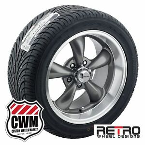 17 Inch 17x7 17x9 Staggered Gray Wheels Rims Tires For Ford Mustang 1967 73