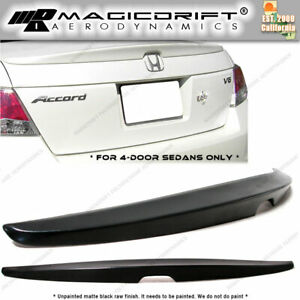 2008 2012 Honda Accord 4 Door Sedan Factory Oe Rear Trunk Spoiler Wing Ducktail