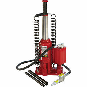 Strongway Air Hydraulic Bottle Jack 12 Ton Cap 10 7 16in 20 1 16in Lift Range