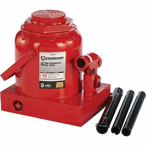 Strongway Hydraulic Bottle Jack 50 ton Capacity 9 1 4in 14in Lift Range