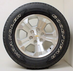 New Takeoff Chevy Z71 Silverado Tahoe 18 Wheels Rims Owl Goodyear Tires Lugs