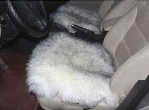 Sheepskin Car Seat Covers Genuine Long Wool Chair Cushion 18 18 Whitegrey 1pc
