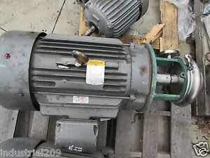 Tri clover Pump C218ff32tt 20nd 010 09sp W 40 Hp New